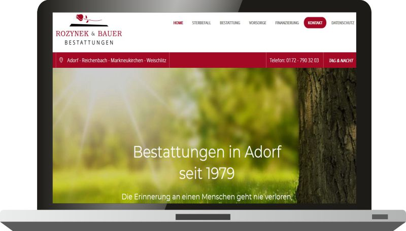 Responsive Website mit 2 Templates